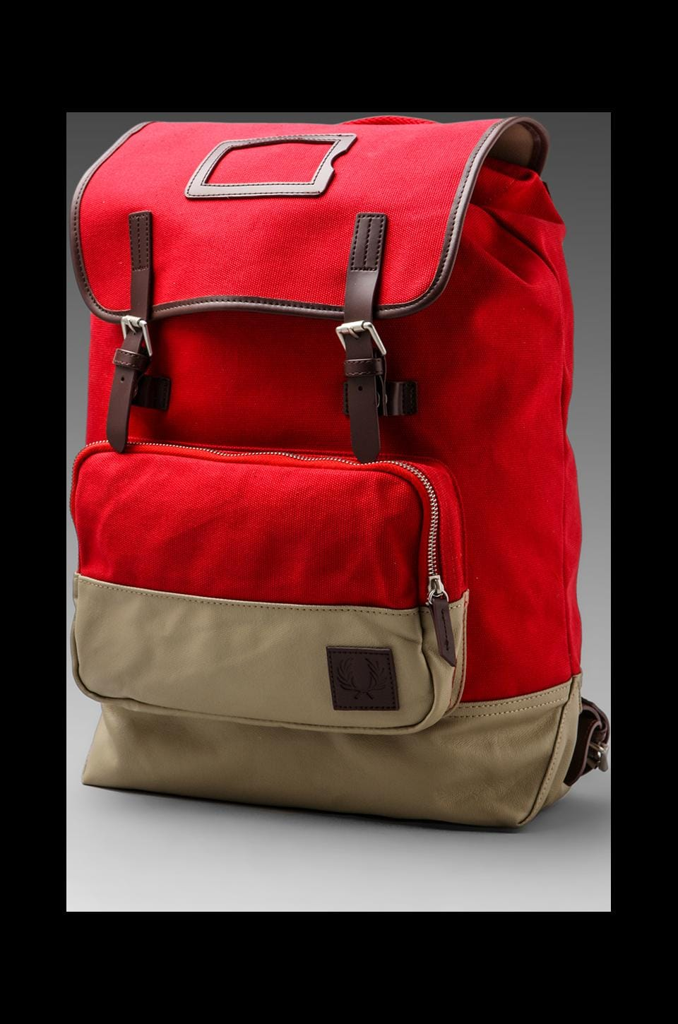 Fred Perry Cotton Rucksack in Blood