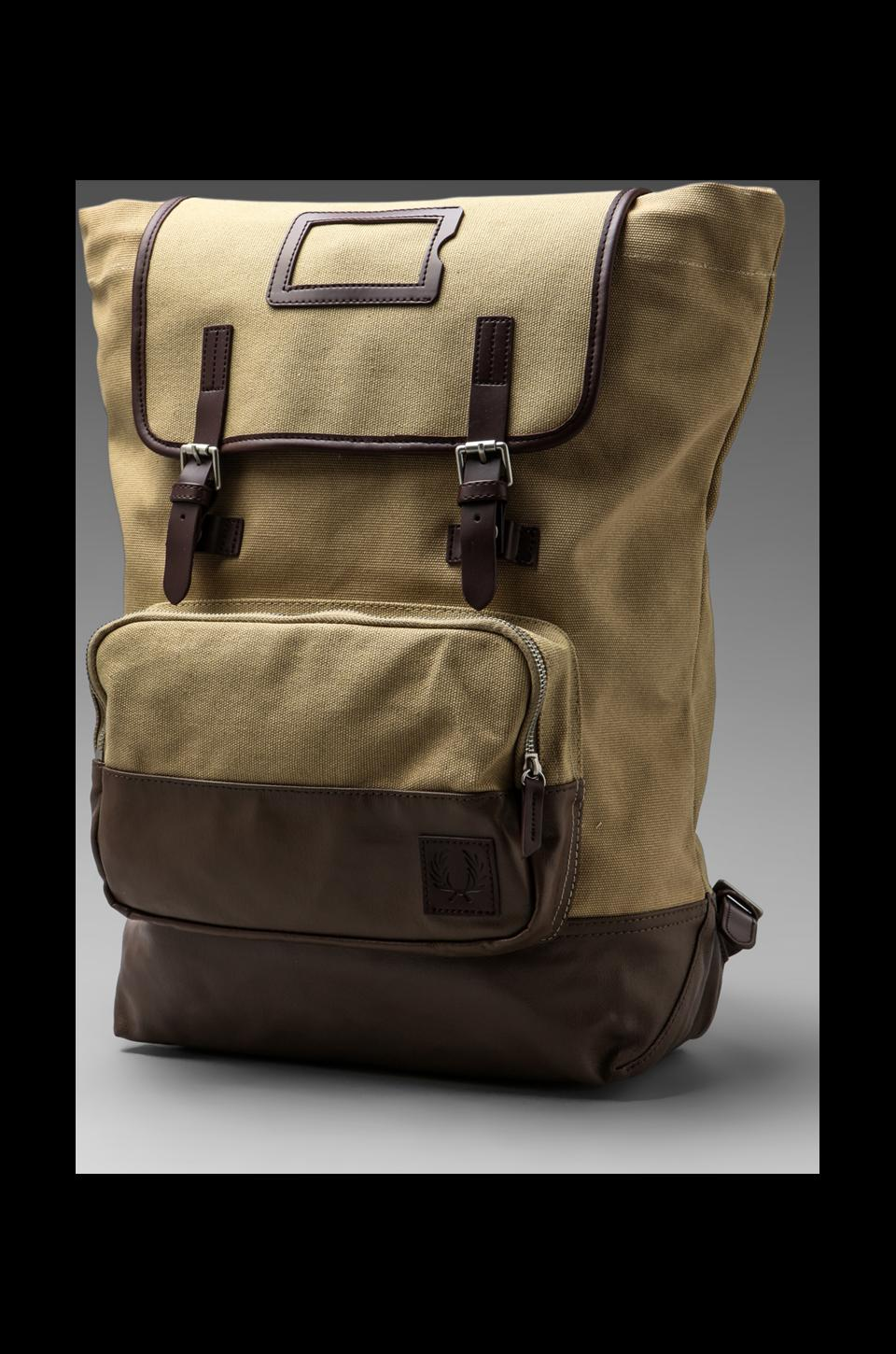 Fred Perry Cotton Rucksack in Warm Stone