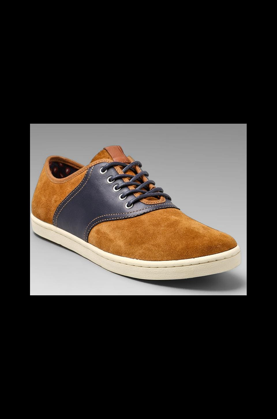 Fred Perry Colyer Suede Leather in Rubber/Carbon