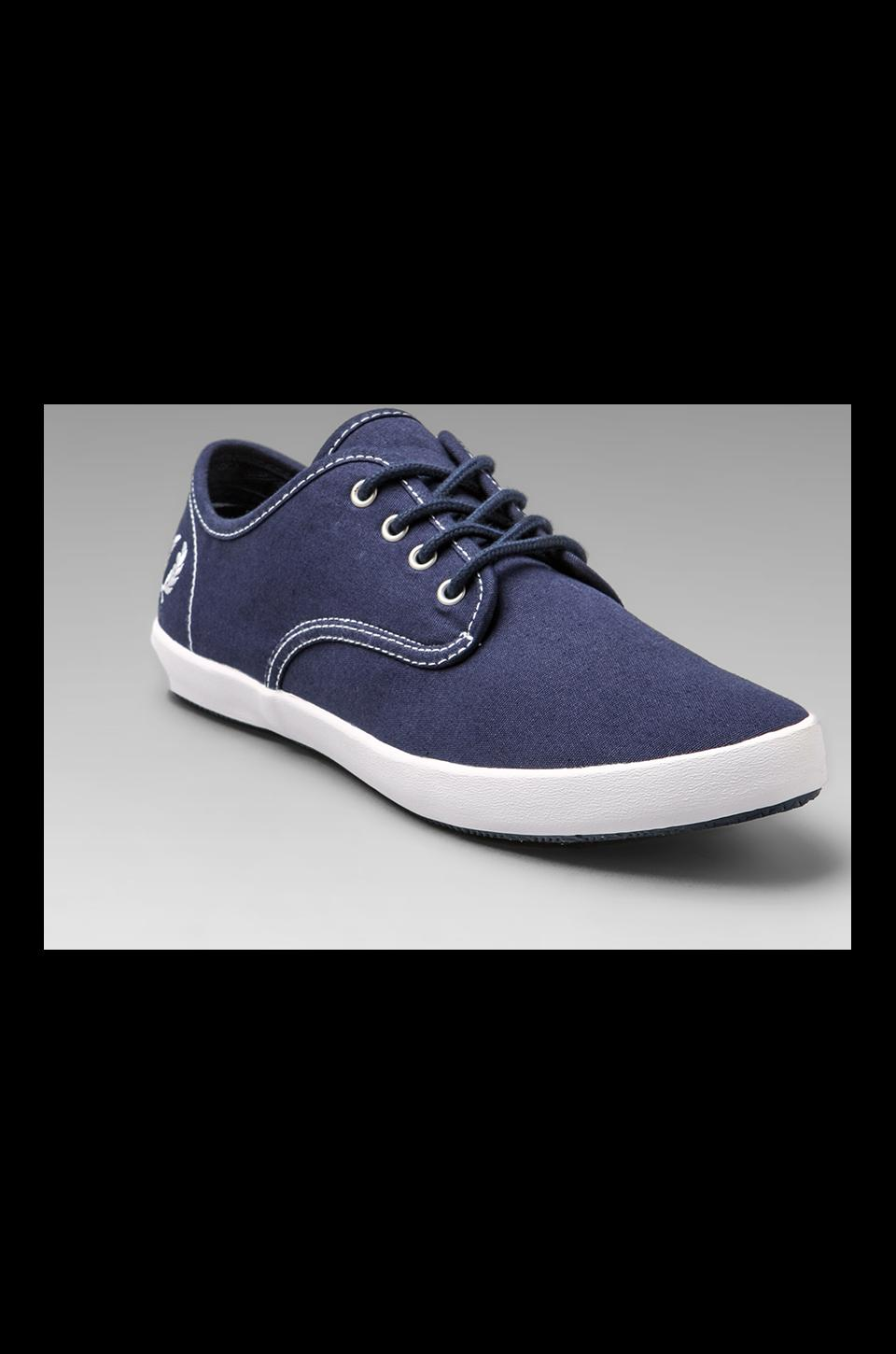 Fred Perry FOXX Canvas in Carbon Blue/White