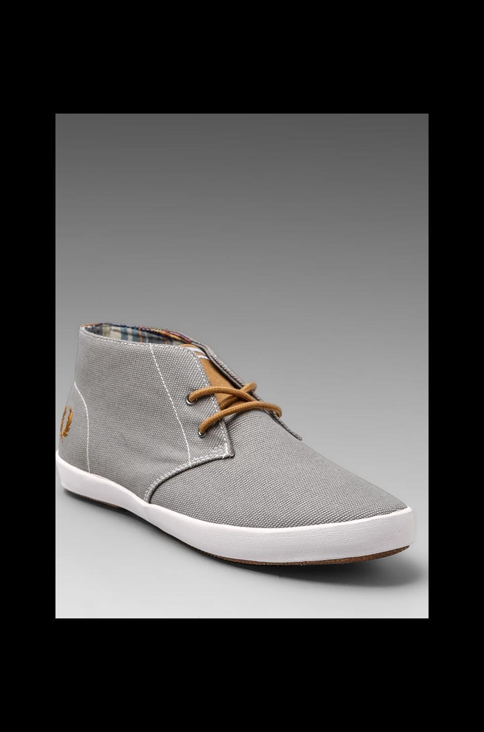 Fred Perry Byron Mid Heavy Canvas in Cloudburst/Rubber