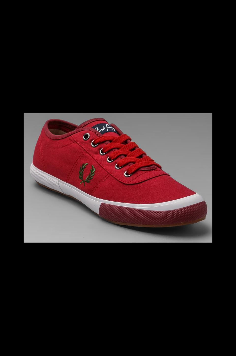 Fred Perry Woodford Canvas in Blood/Olive/Maroon