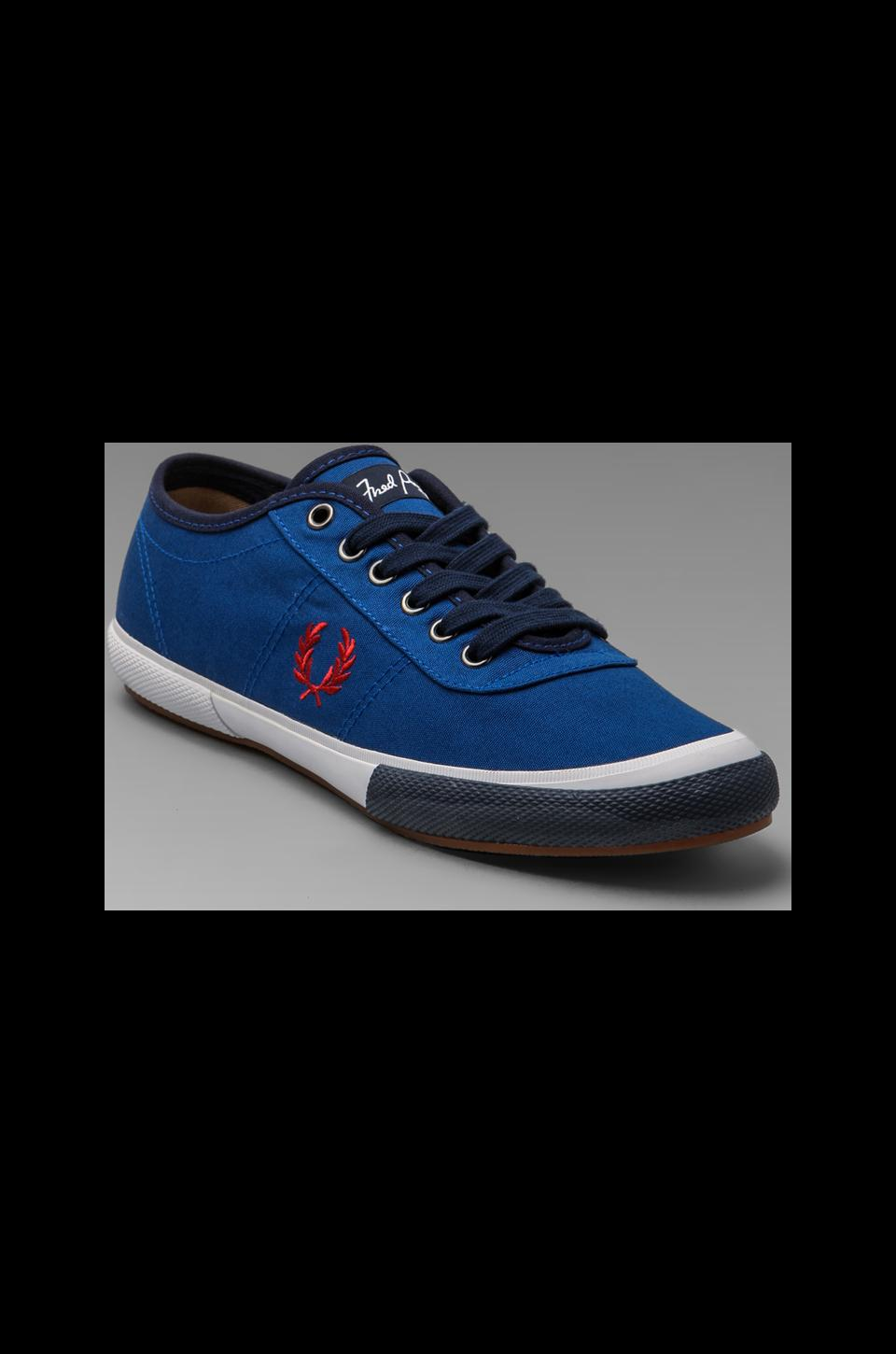 Fred Perry Woodford Canvas in Royal/Blood/Carbon Blue