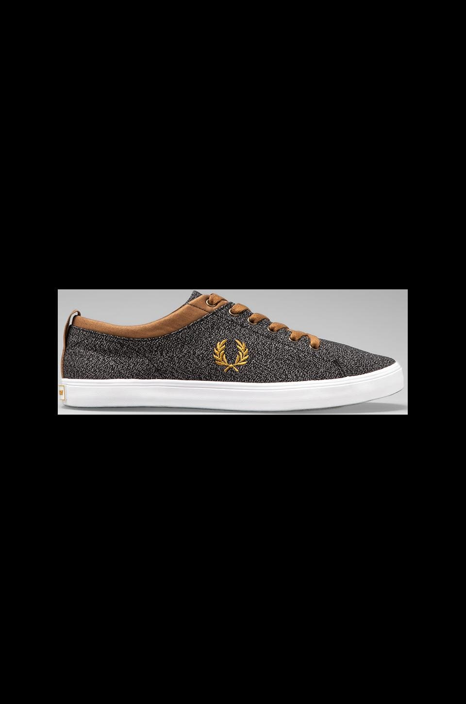Fred Perry Hallam Twisted Chambray in Black/Mustard/Pepper