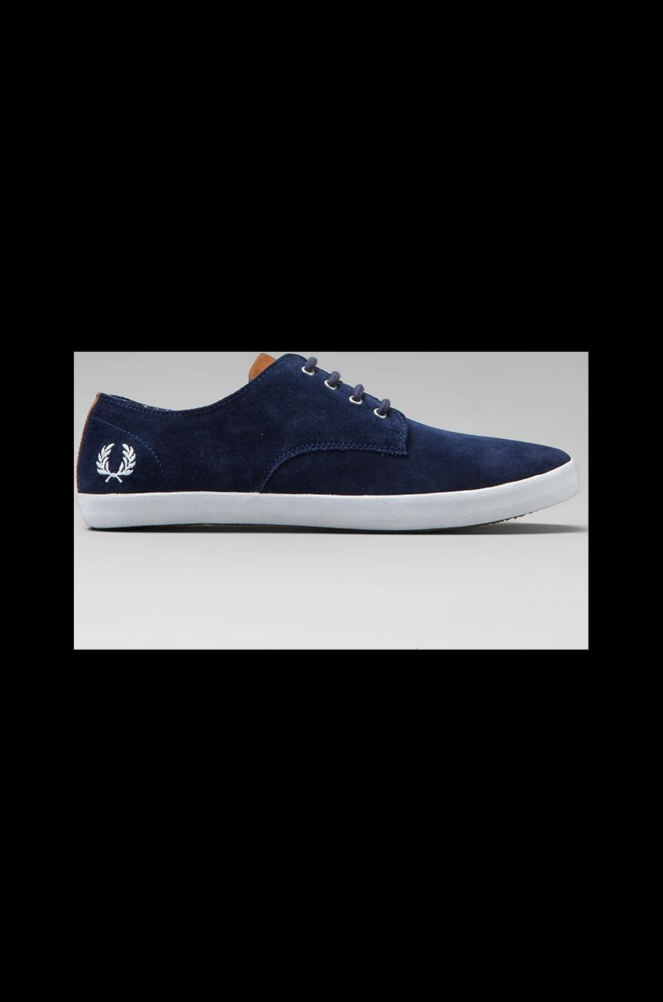 Fred Perry Foxx Suede in Carbon Blue
