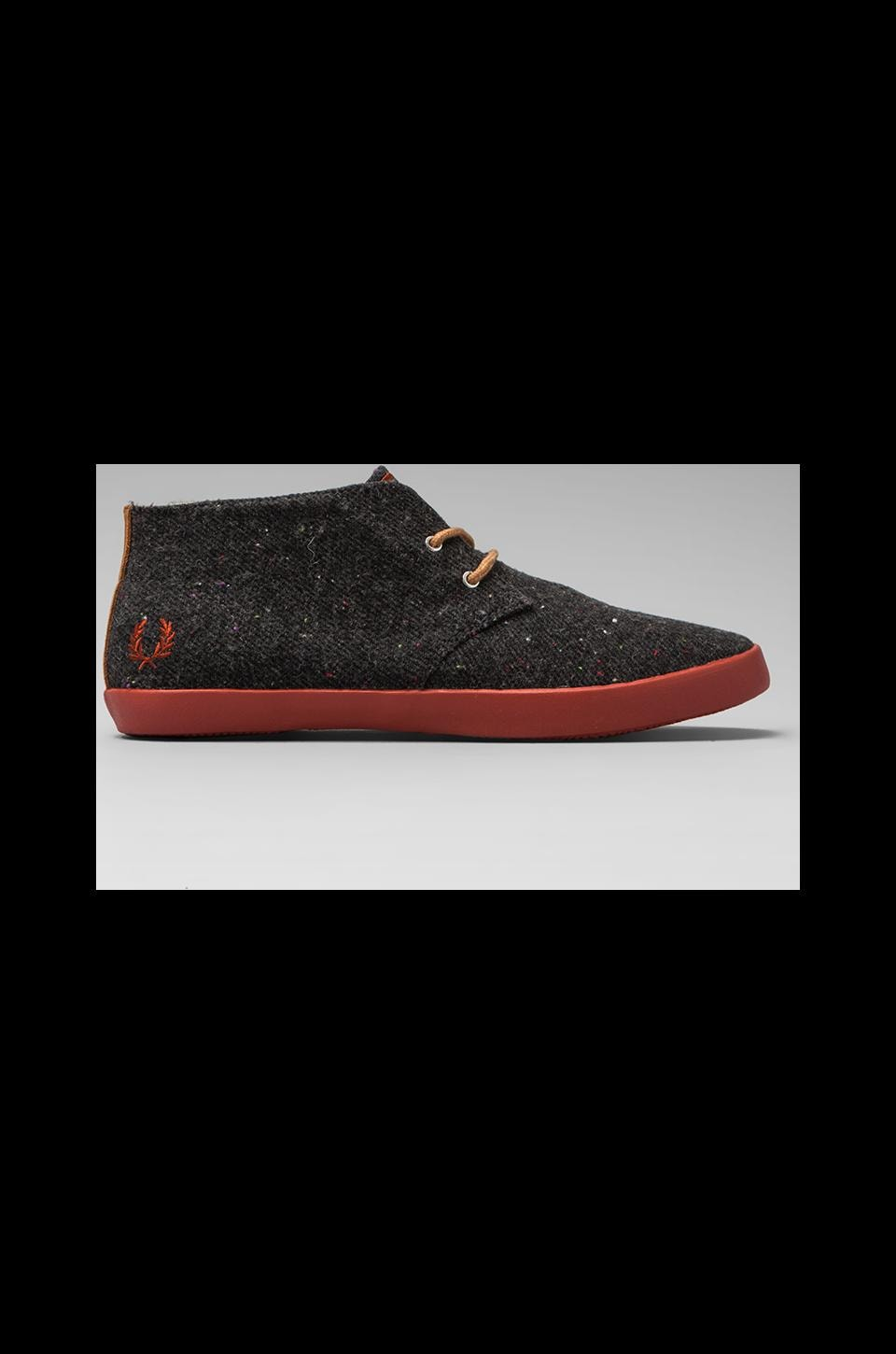 Fred Perry Byron Mid Flecked Wool in Anchor Grey/1964 Terracotta
