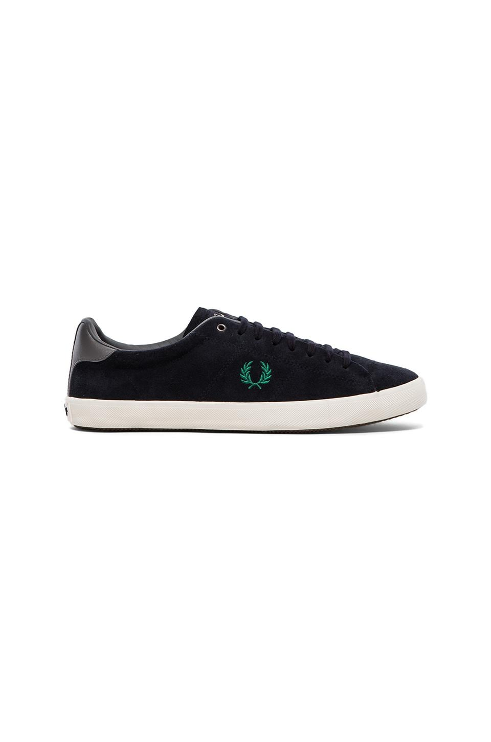 Fred Perry Howells Unlined Suede Sneaker in Navy & Privet