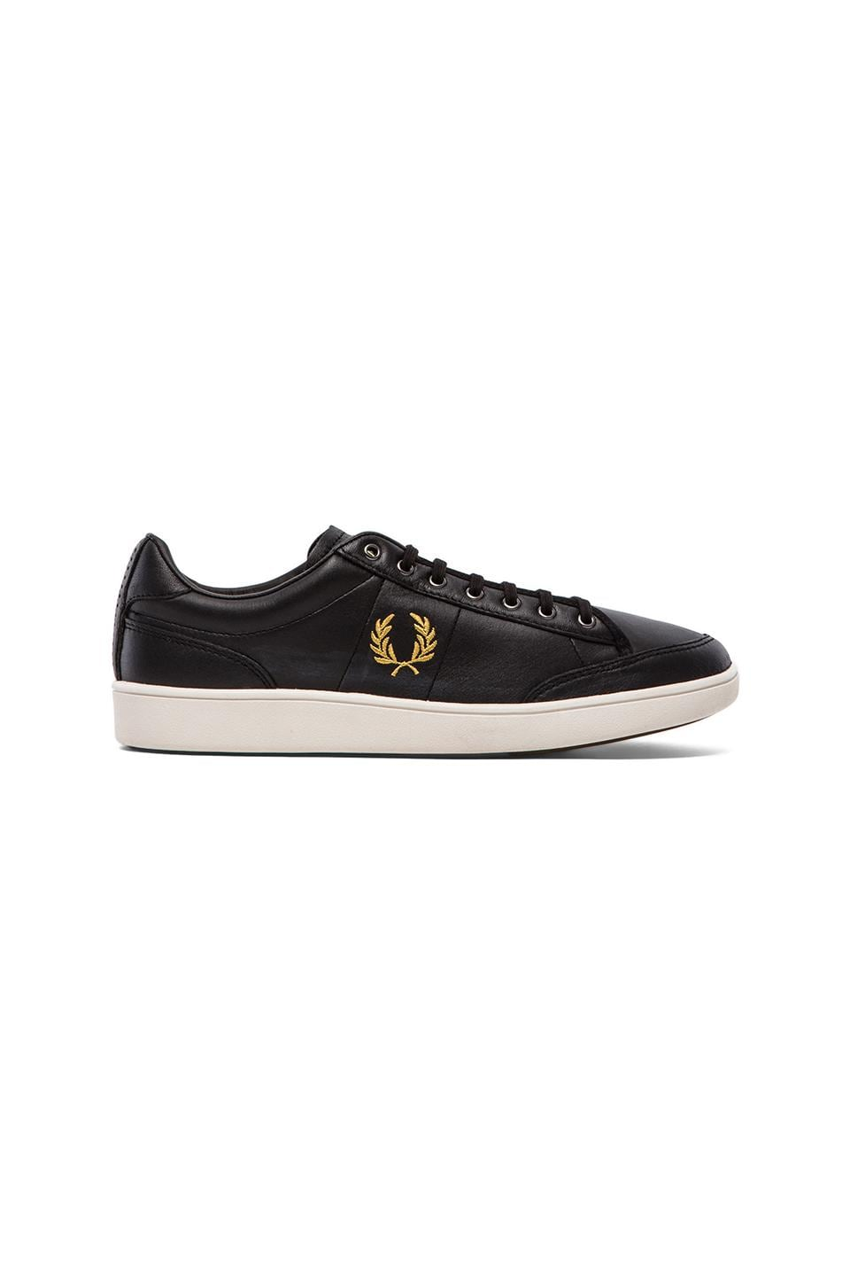 Fred Perry Hopman Leather Sneaker in Black