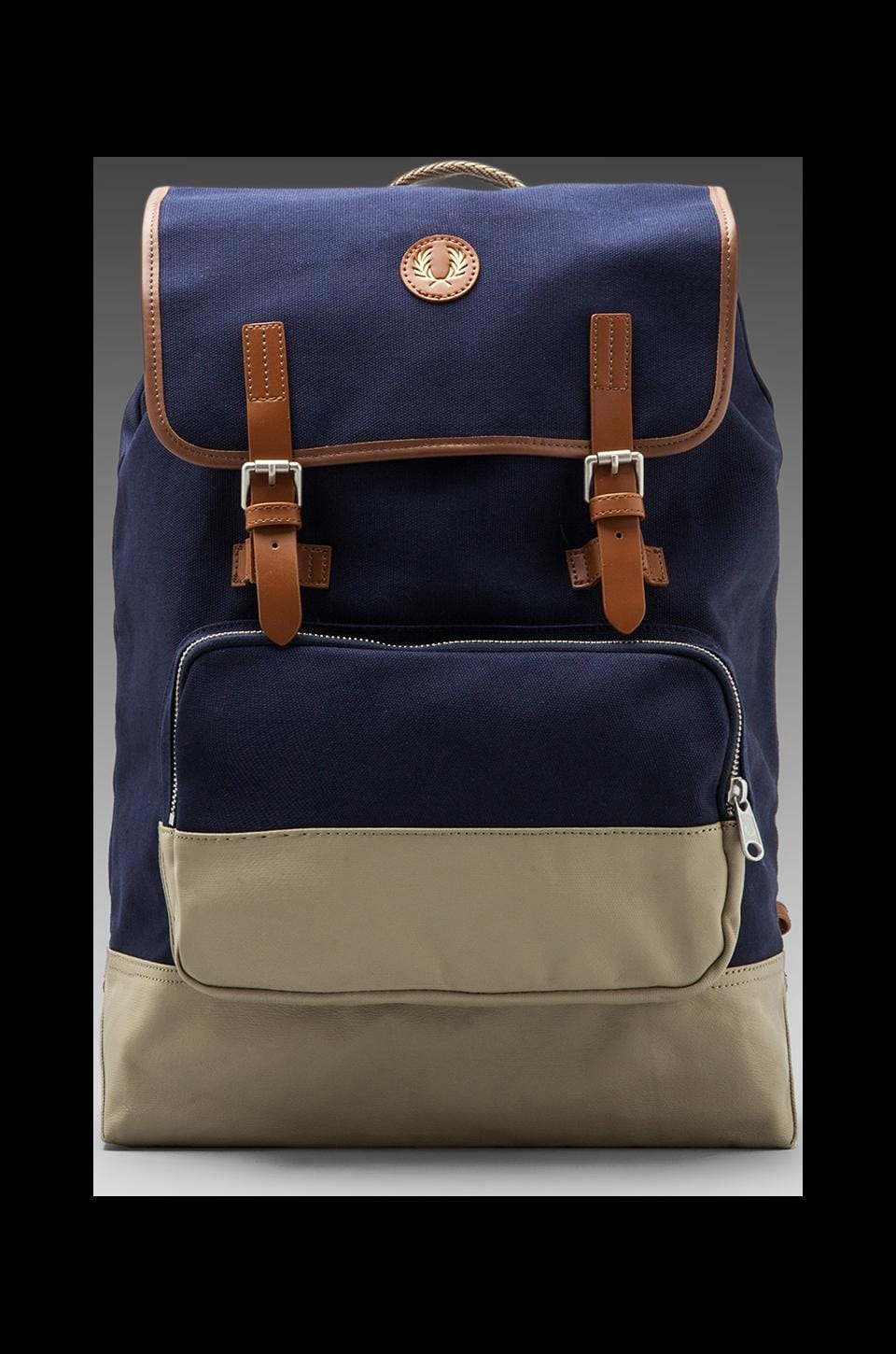 Fred Perry Cotton Rucksack in Carbon Blue/Twill