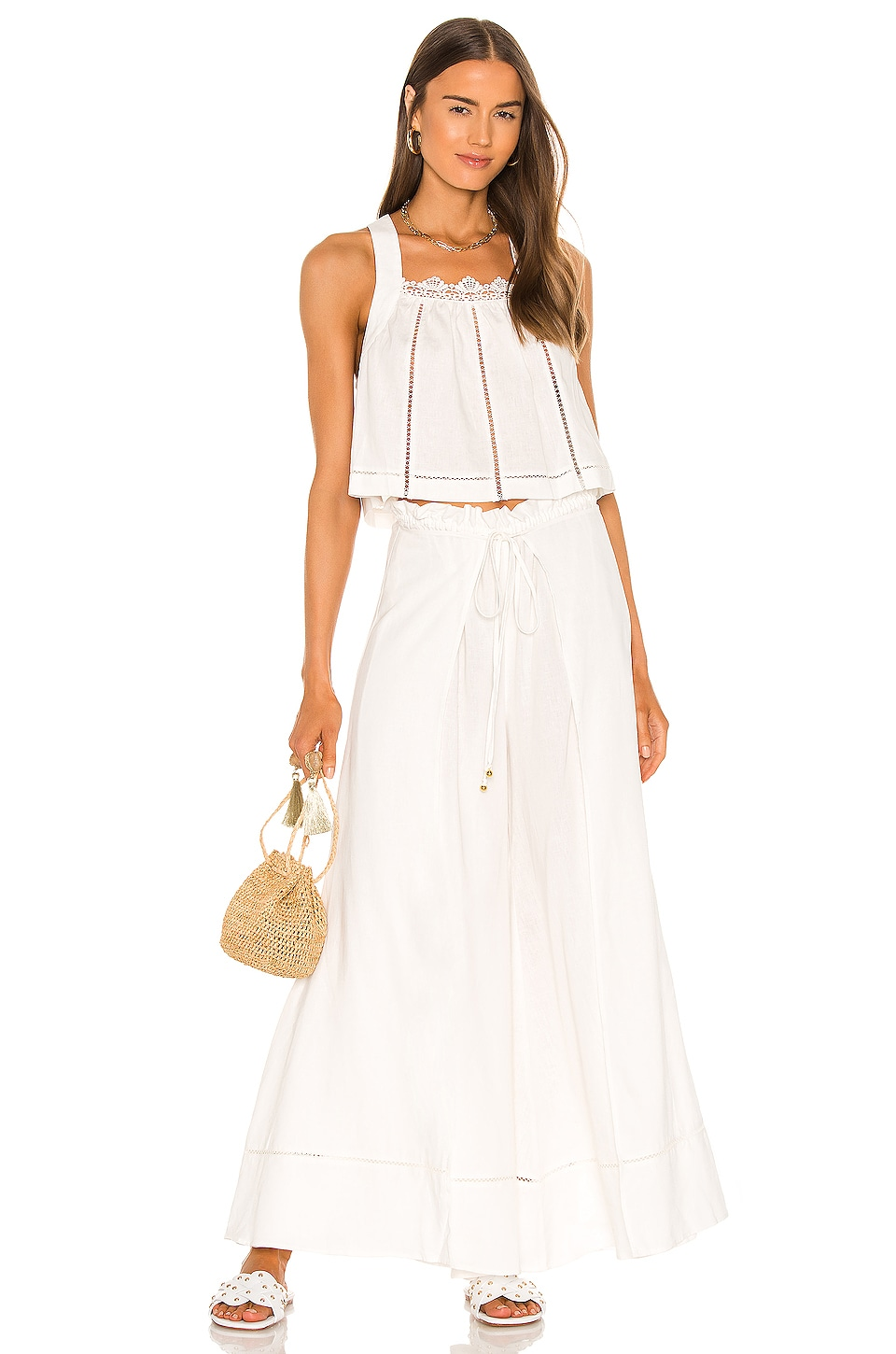 Free People Lainey Set in Ivory