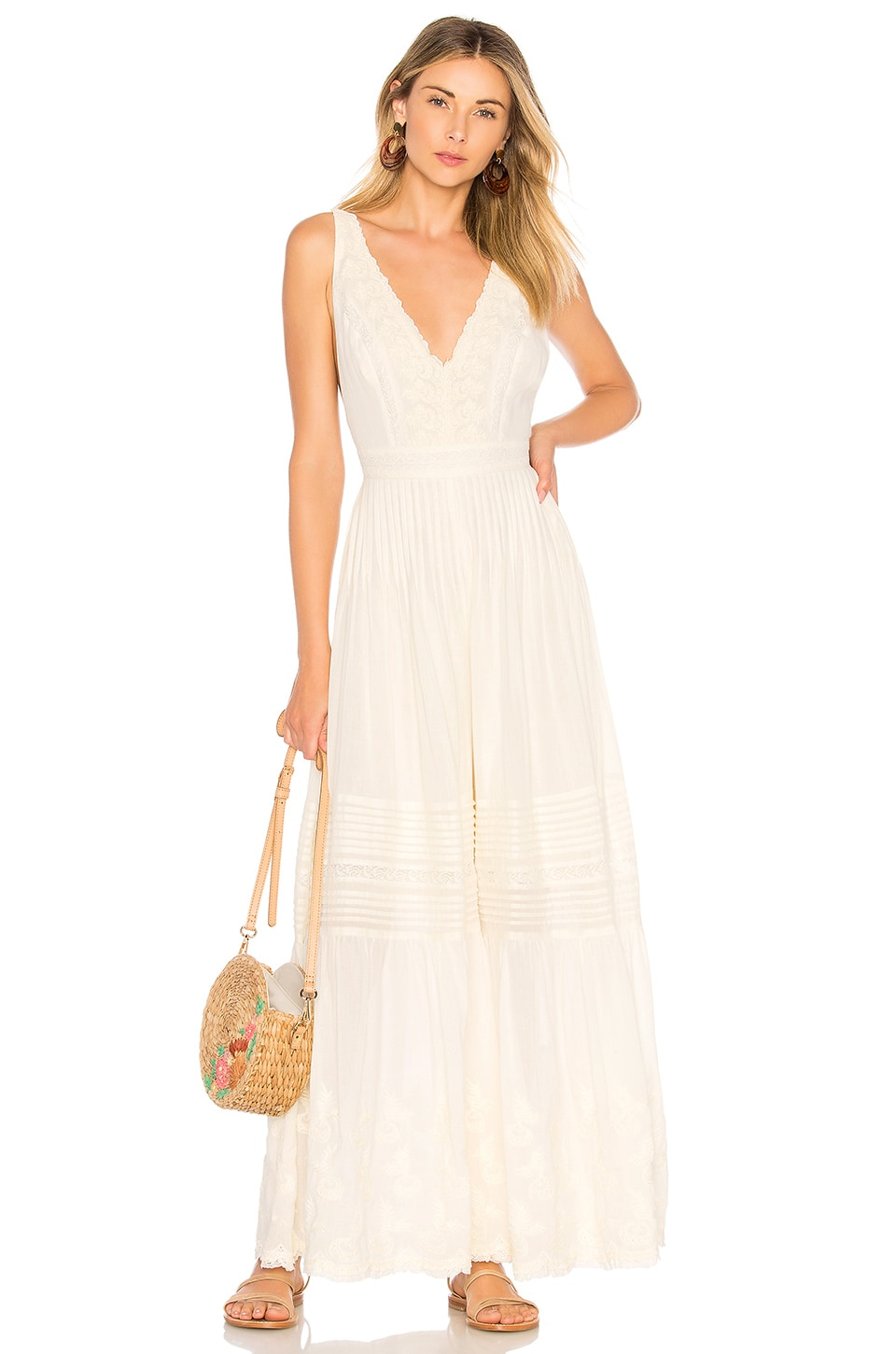 Free People Paloma Jumpsuit in Ivory
