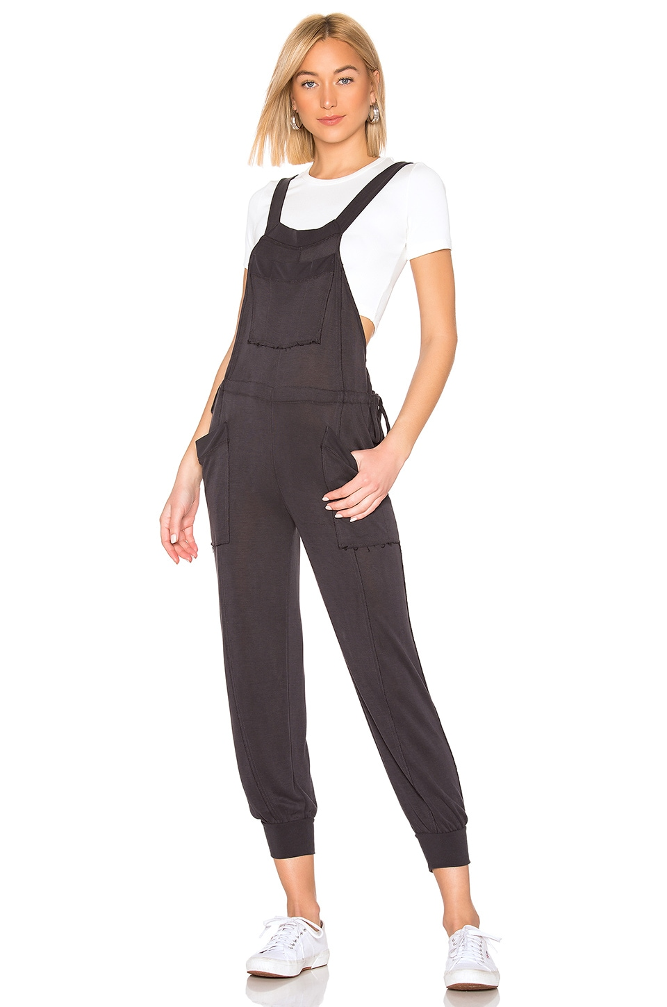 Free People Movement Jump Start Jumpsuit in Black