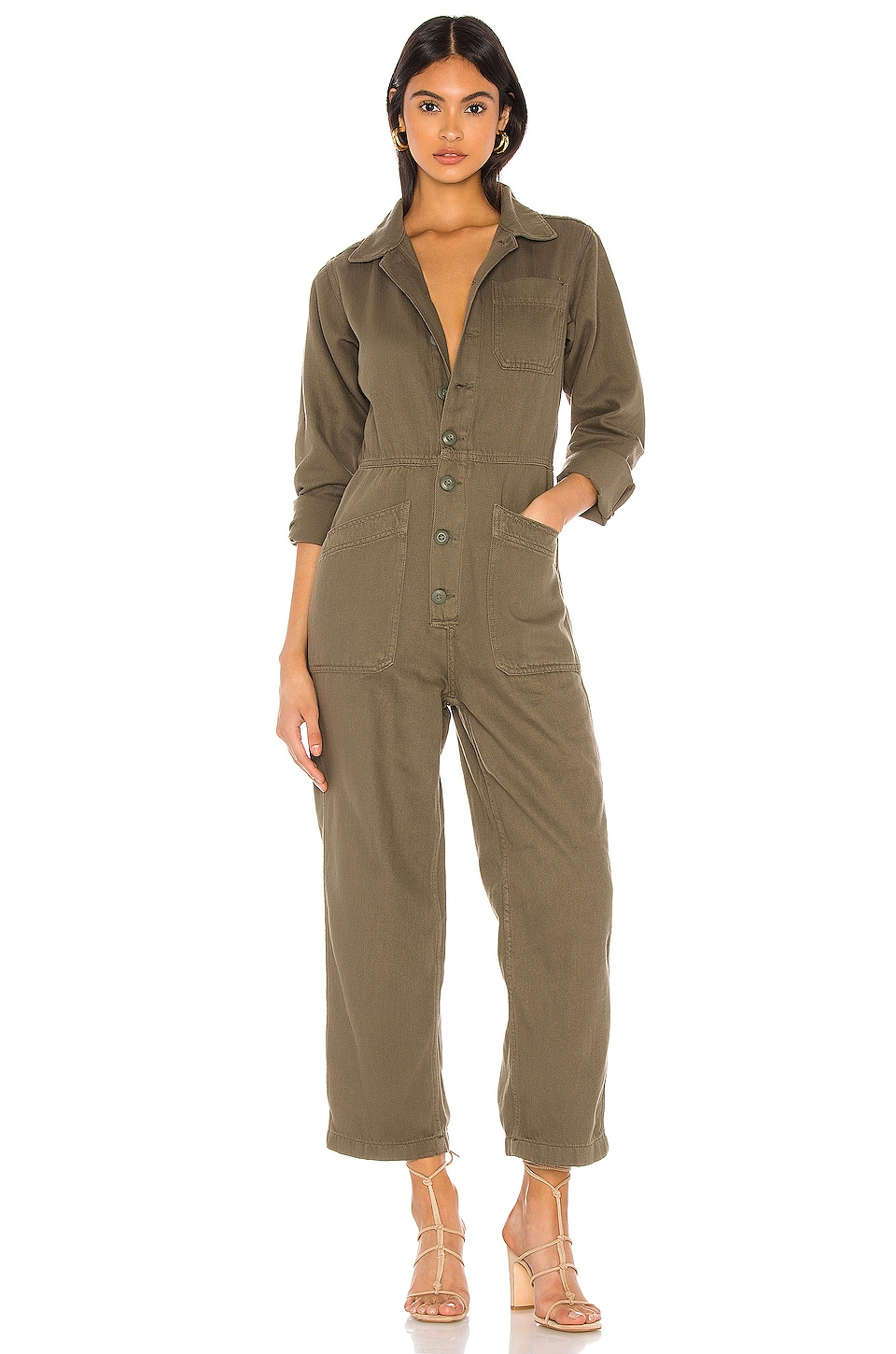 Free People Gia Coverall in Army