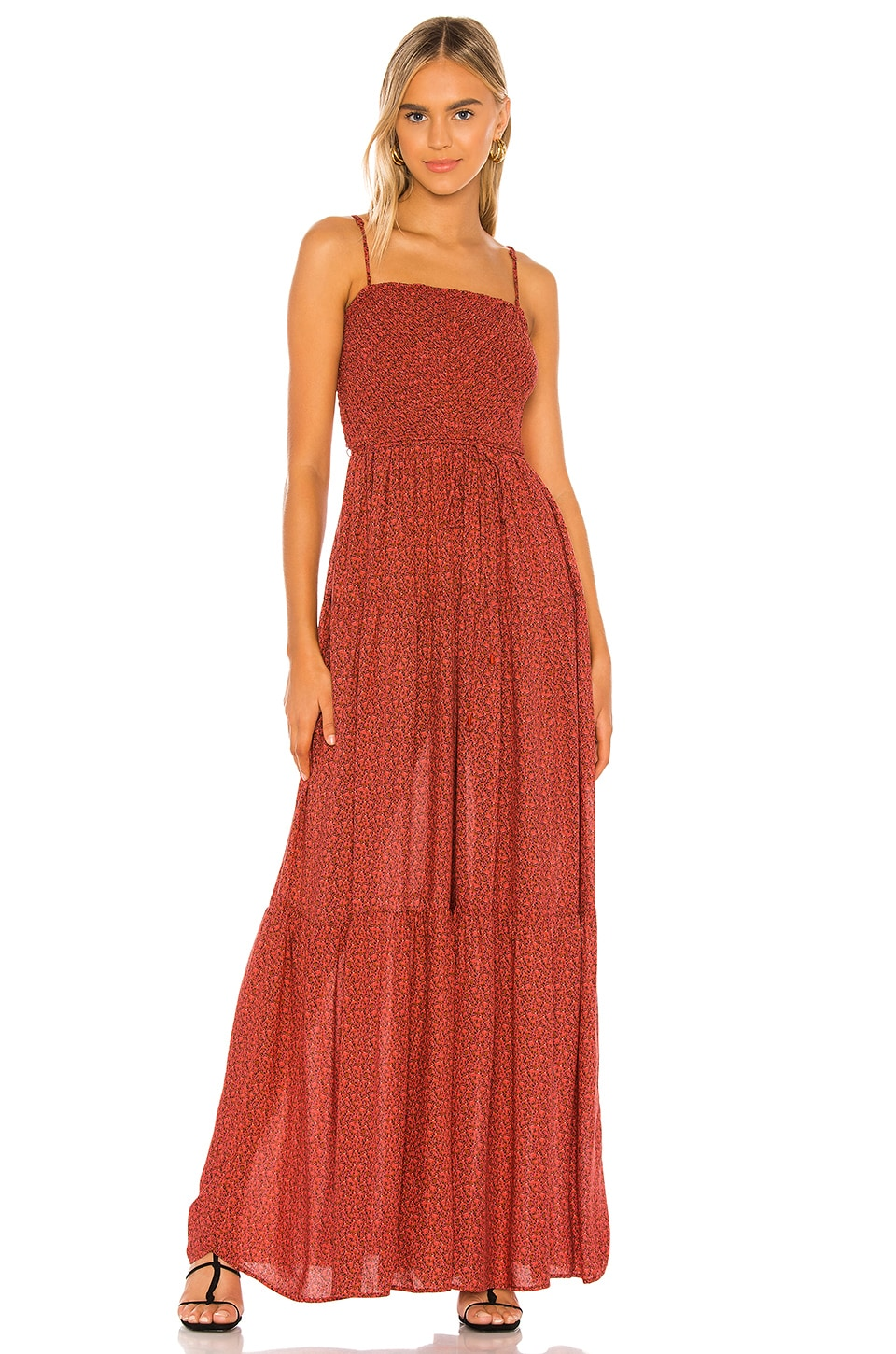 Free People Little Of Your Love Jumpsuit in Red Combo
