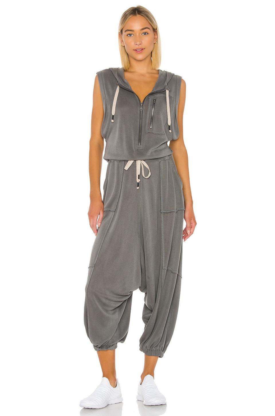 Free People X FP Movement Franklin Hills Jumpsuit in Dark Grey