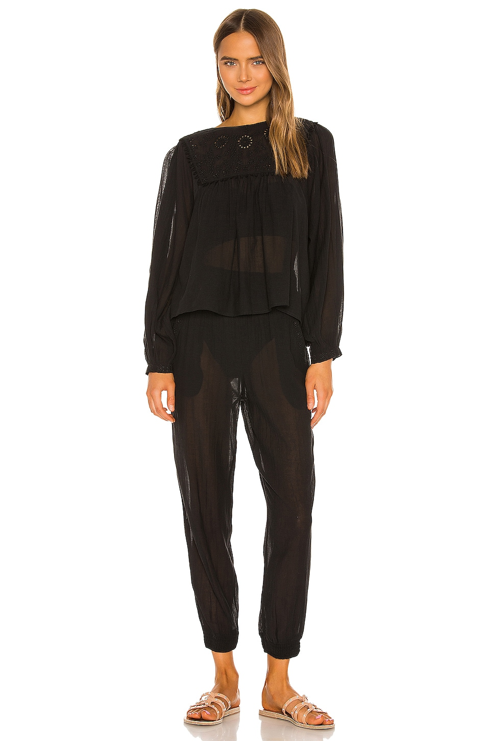 Free People Valencia Set in Black
