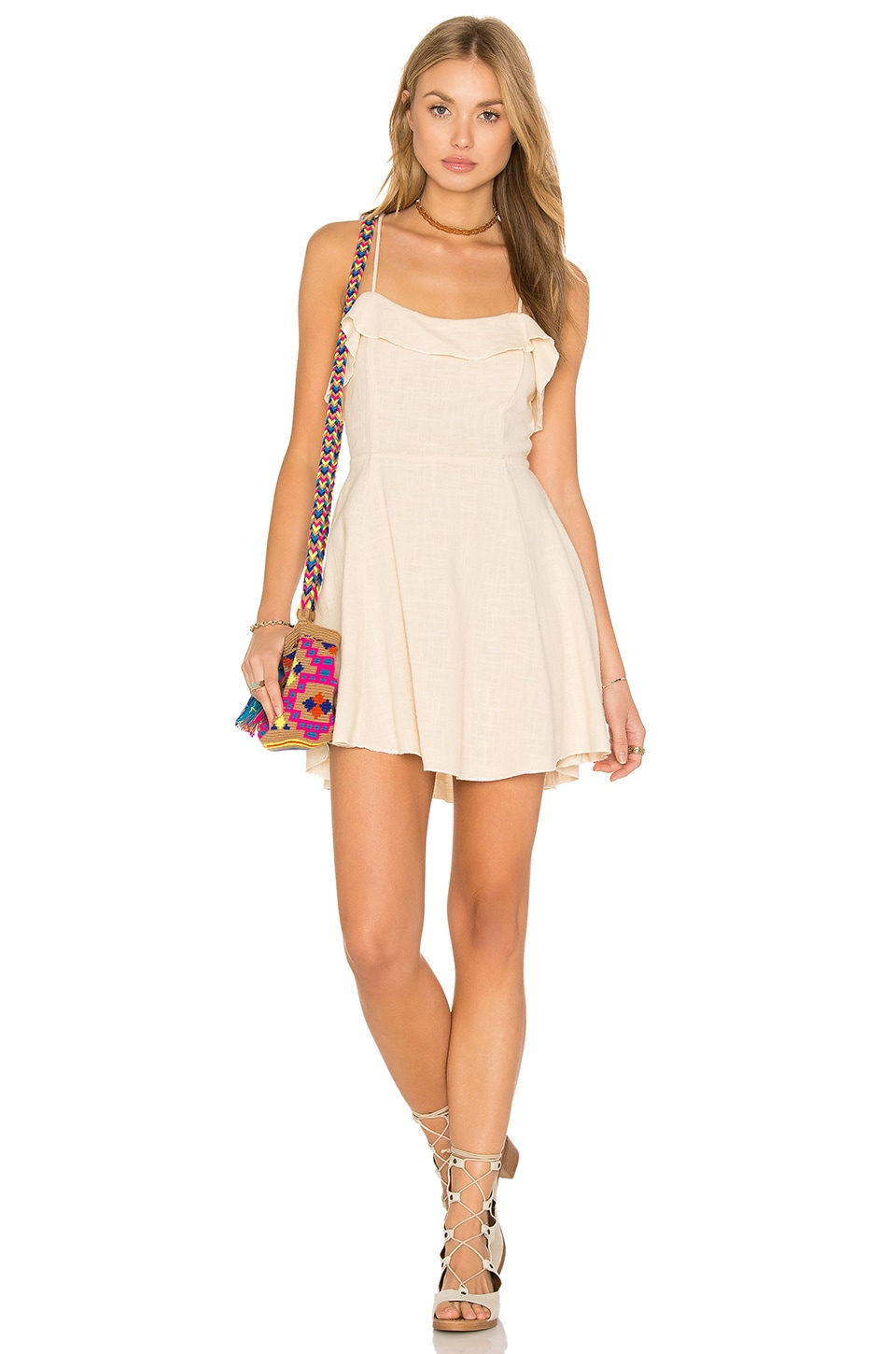 Free People More Than a Mini Dress in Beige
