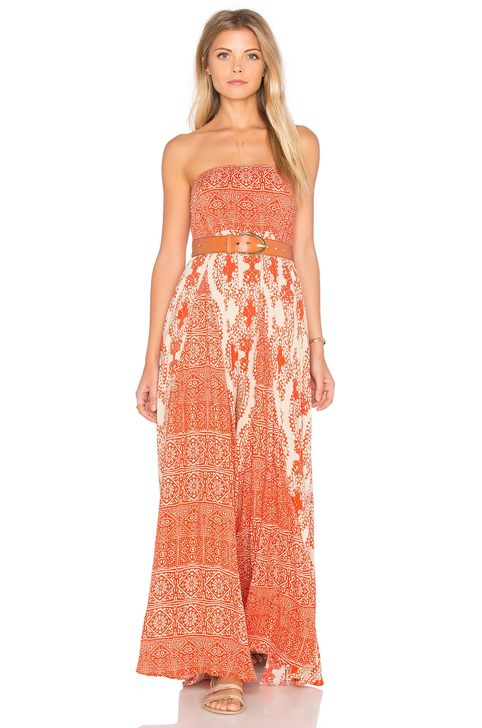 Free People Women of the Water Dress in Orange Combo