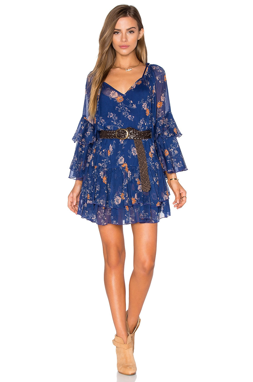 Free People Sunsetter Printed Dress in Blue Combo | REVOLVE