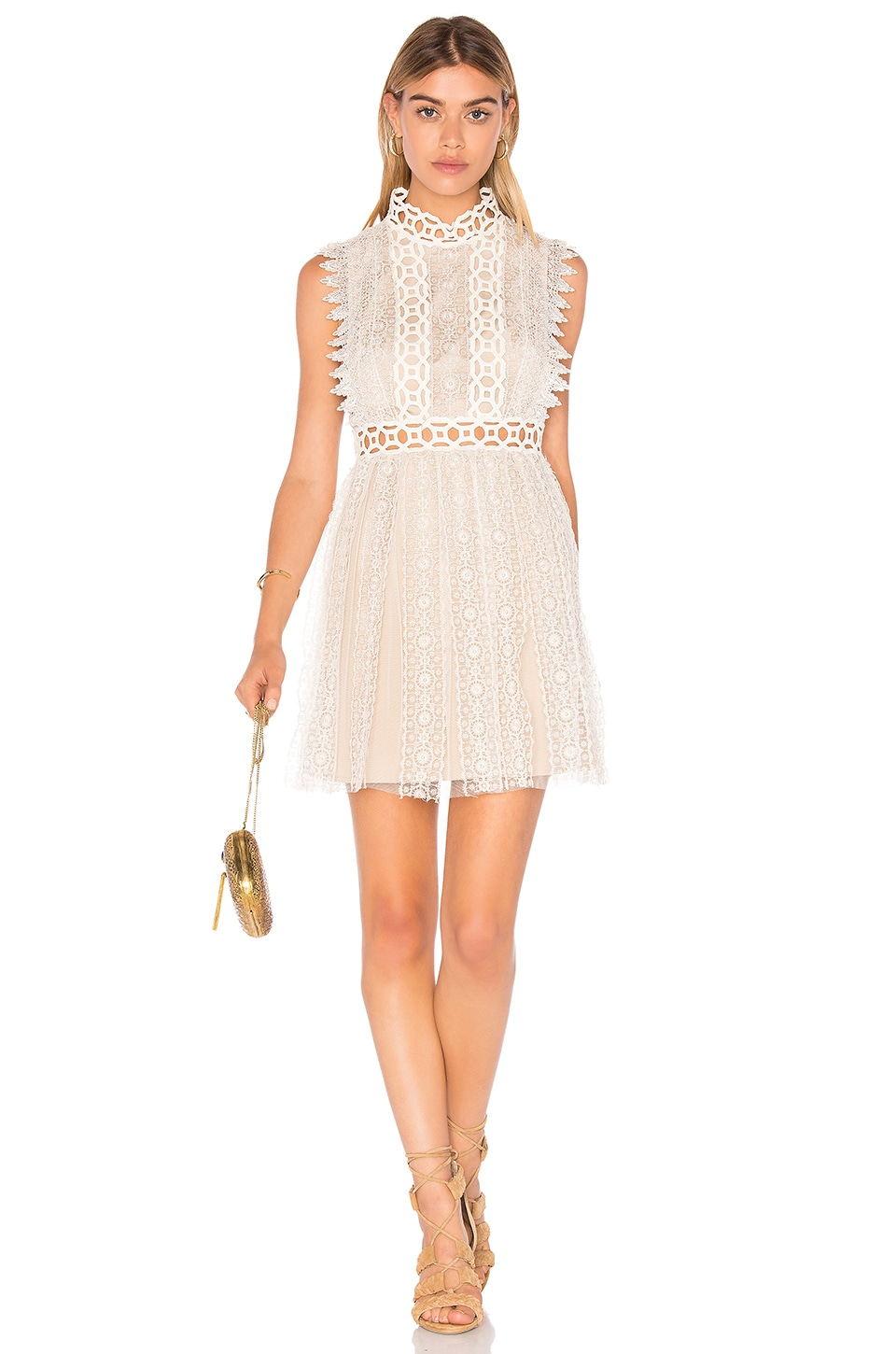 Free People Forever Lace Babydoll Dress in Cream