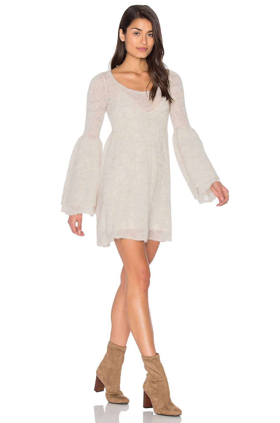Free People Juliet Babydoll Dress in Ivory