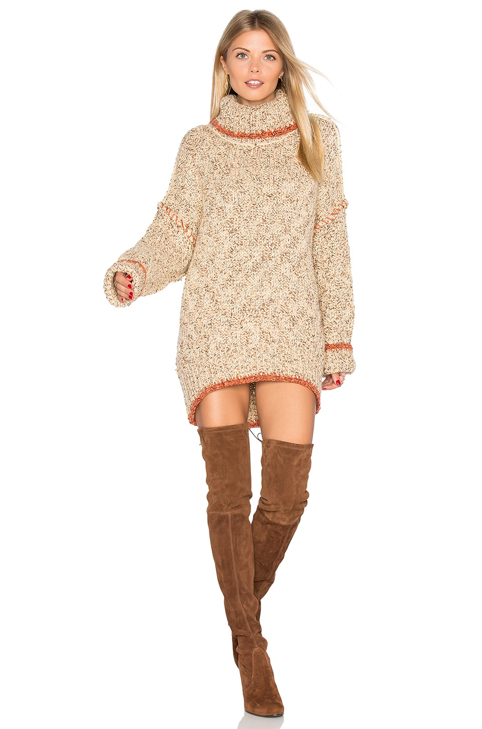 Free People Echo Pullover Dress in Cream