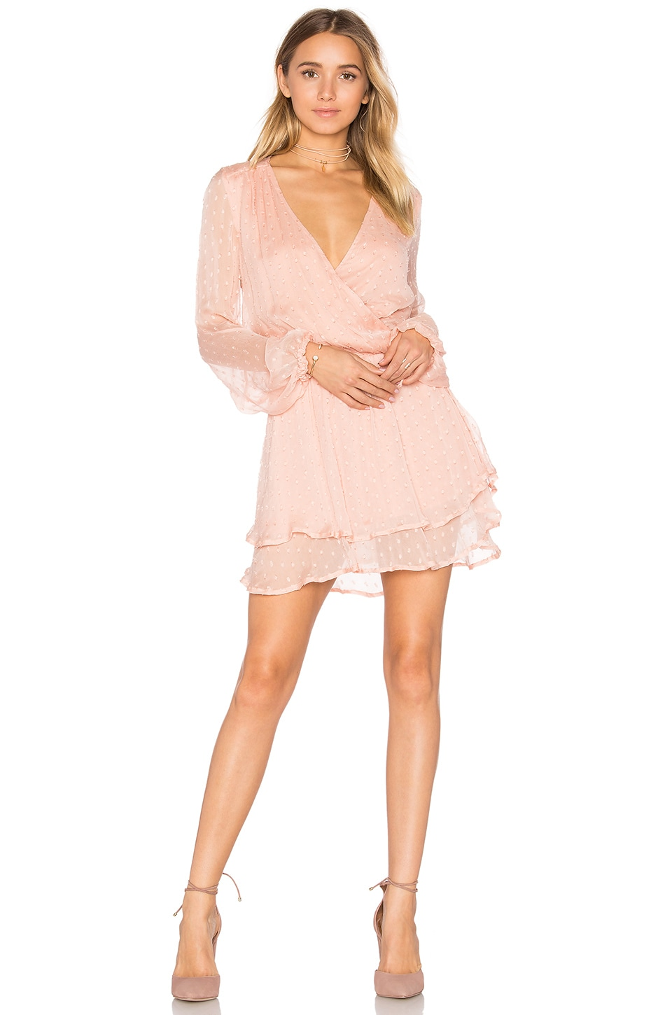 Free People Daliah Mini Dress in Peach