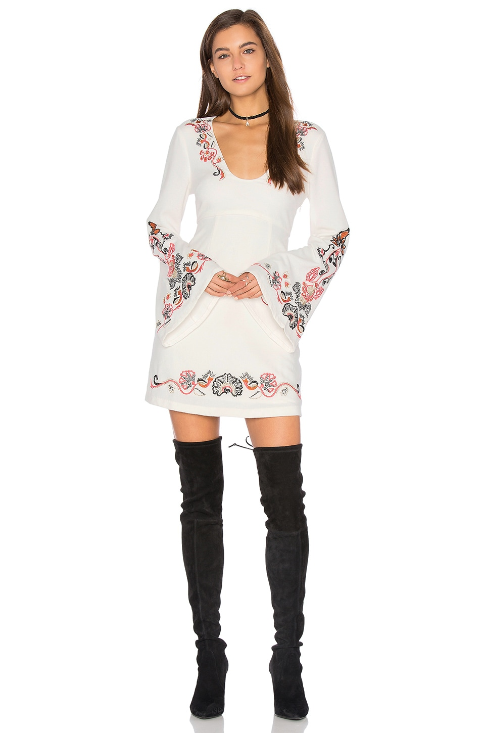 buy Holiday Folk Mini Dress by Free People dresses online shopping