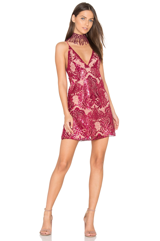Free People Night Summer Mini Dress in Raspberry   REVOLVE