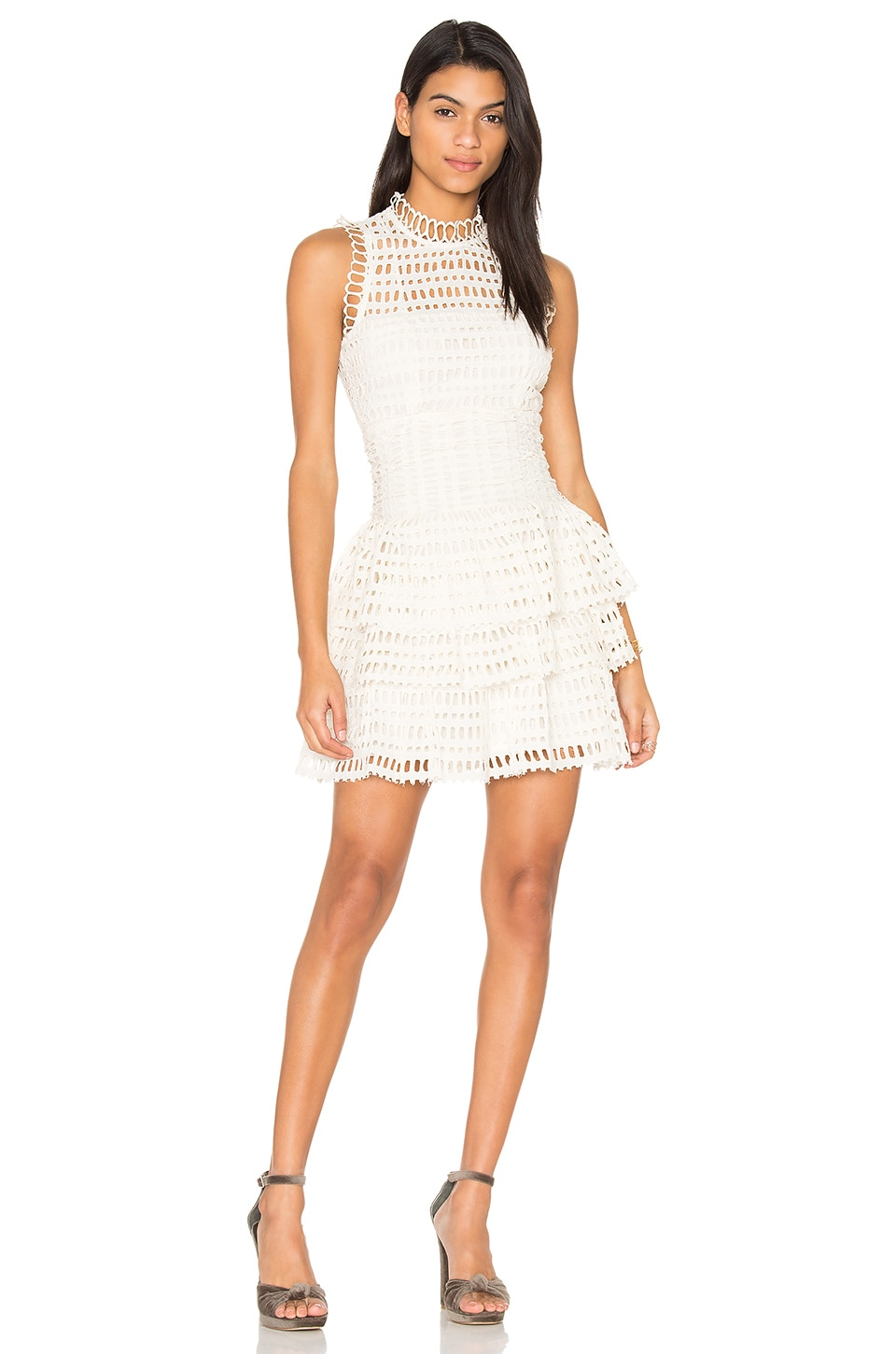 Free People Meet Me at Midnight Mini Dress in Ivory