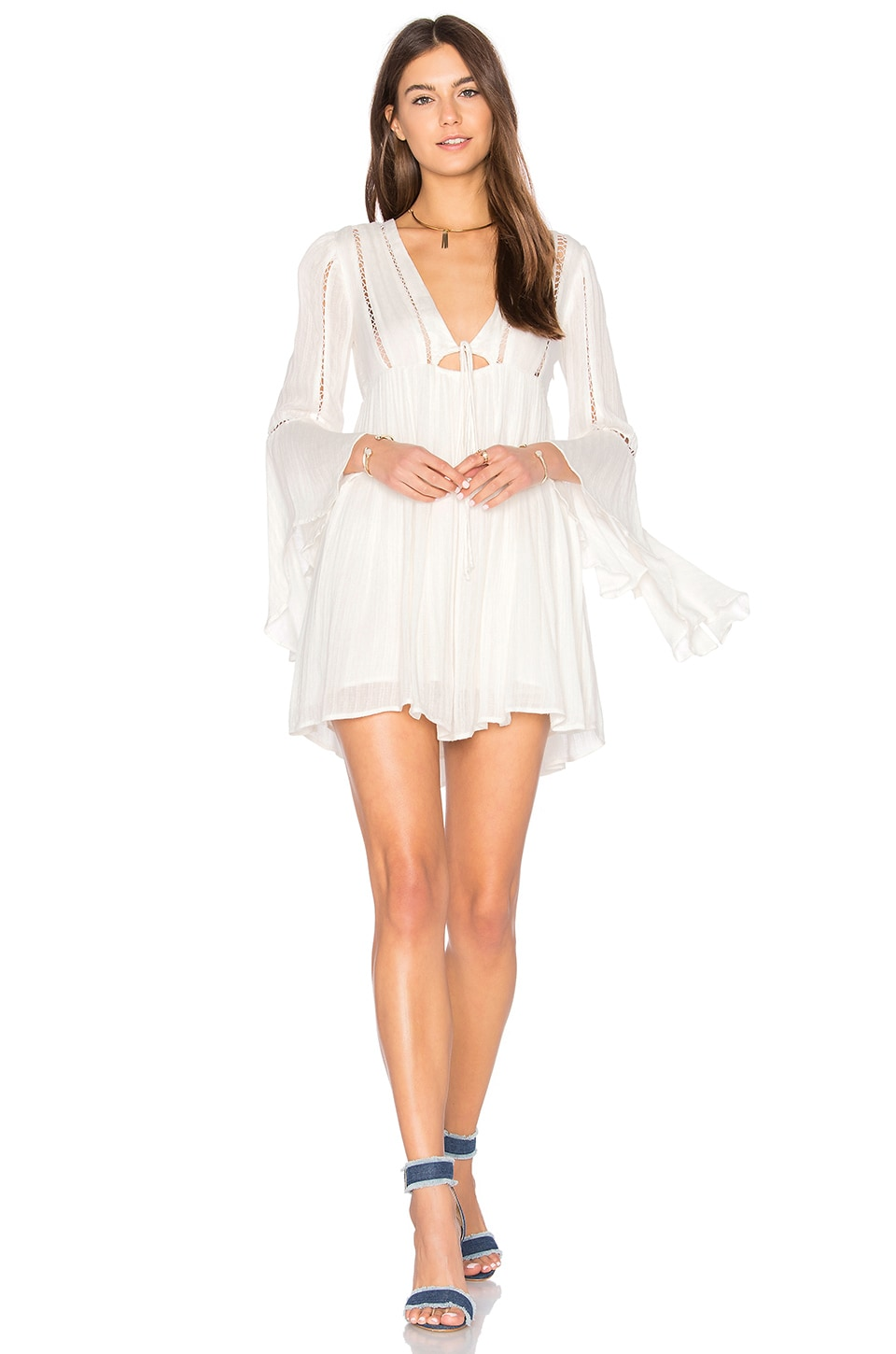 Free People Romeo Mini Dress in Ivory