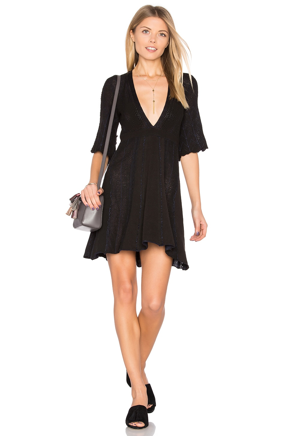 Find Your Love Sweater Mini Dress by Free People