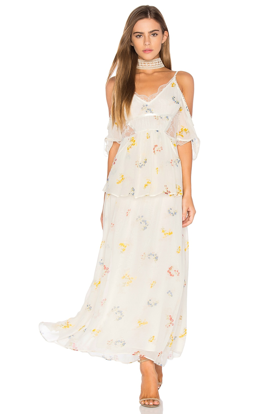 Free People Magnolia Maxi Dress in Ivory