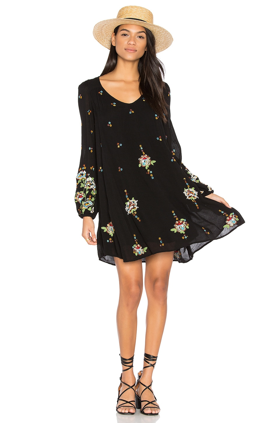 Oxford Embroidered Mini Dress by Free People