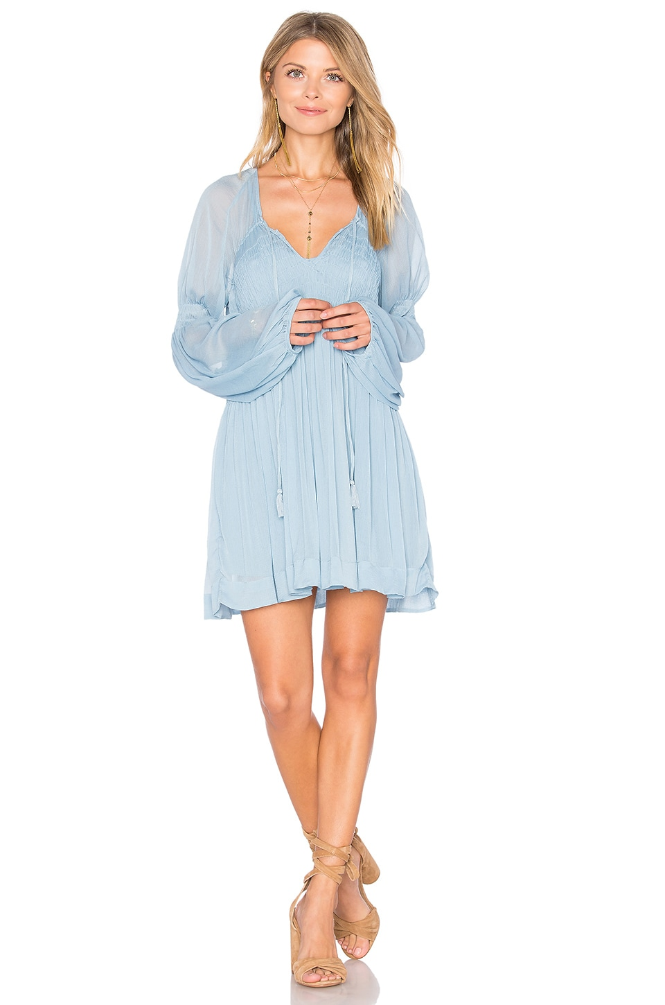 Lini Smocked Mini Dress by Free People
