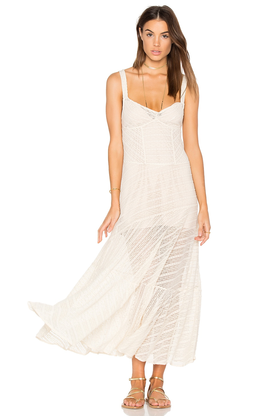 Free People Love Story Slip Dress in Ivory