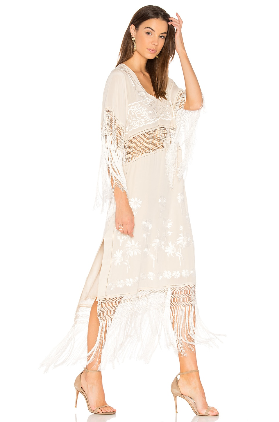 Free People Ella Fringe Dress in Ivory