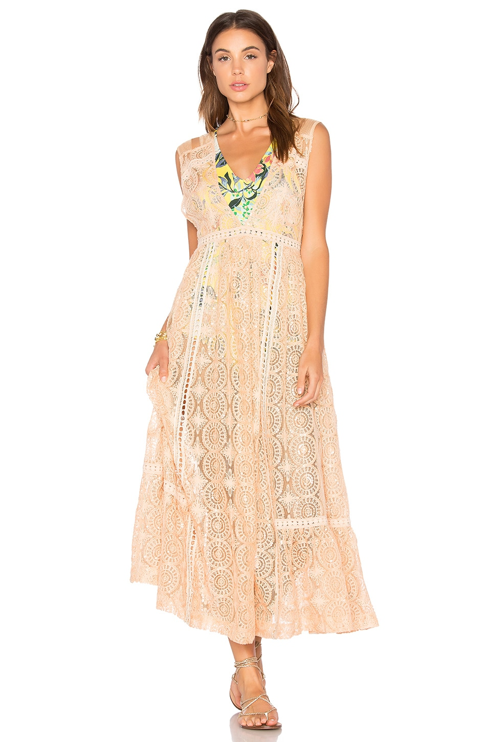 Free People Shine On Midi in Peach