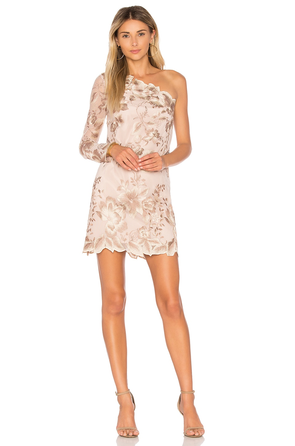 Free People Rosalie Embroidered Mini in Nude
