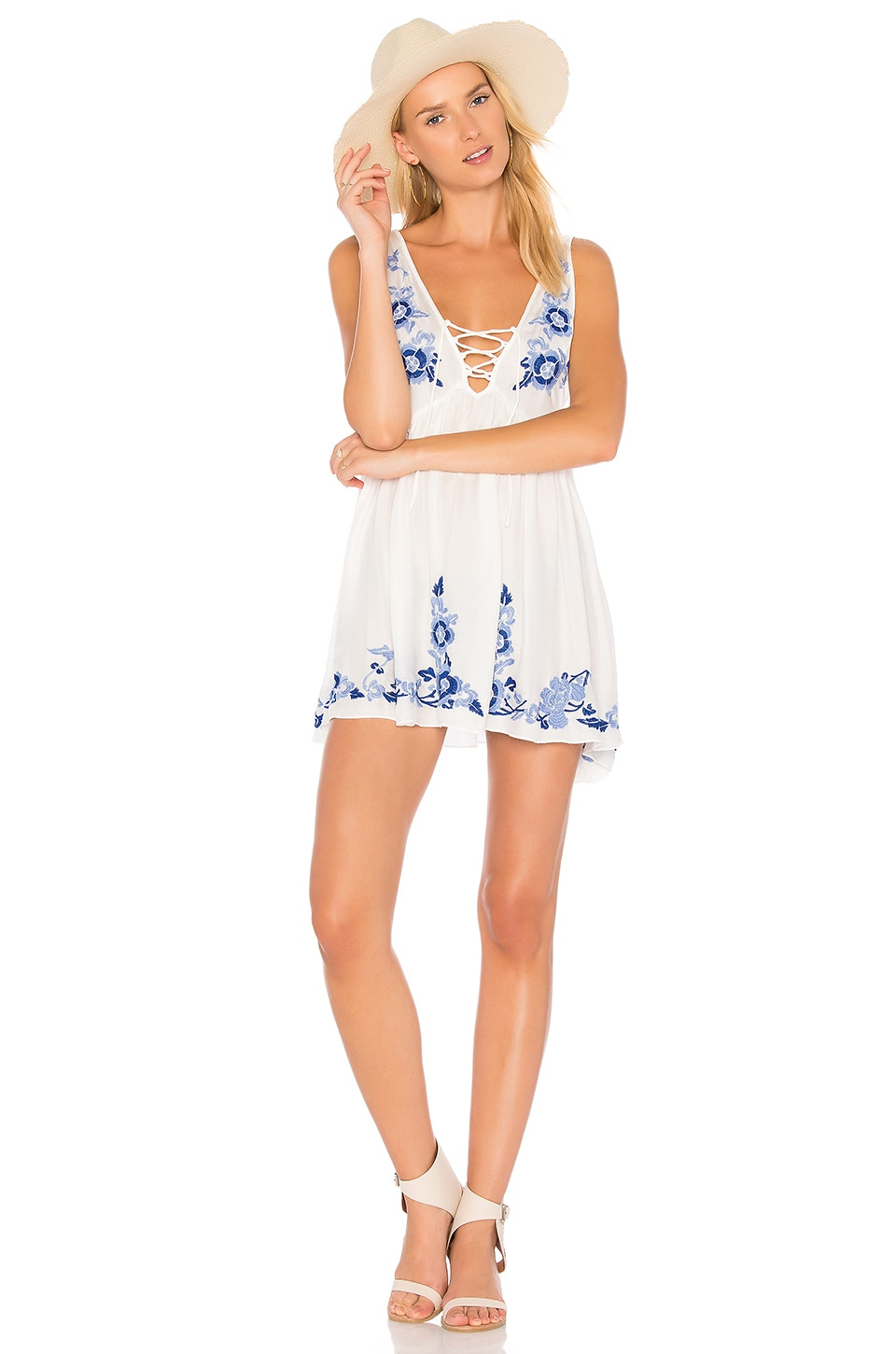 Embroidered Aida Slip by Free People