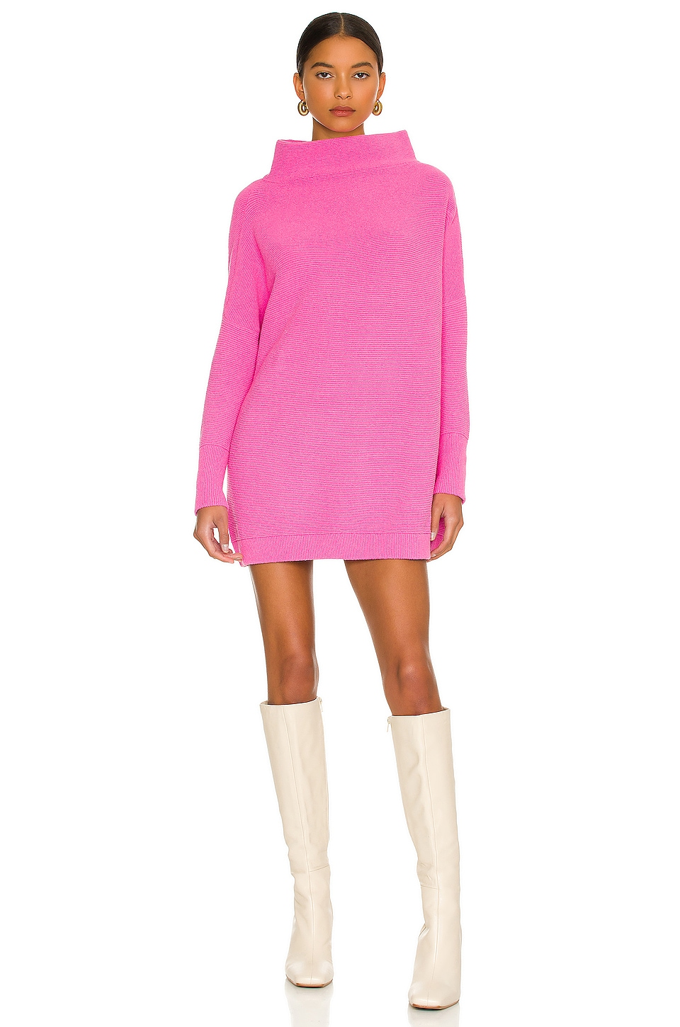 Free People Ottoman Slouchy Tunic Sweater Dress in Pink | REVOLVE