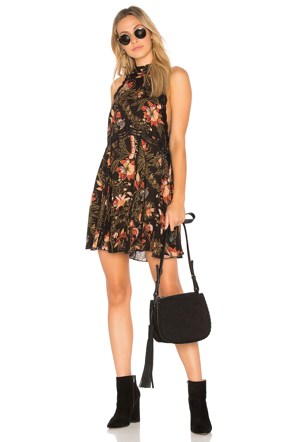 Printed She Moves Mini Dress by Free People