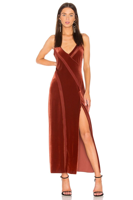 Spliced Velvet Maxi Dress