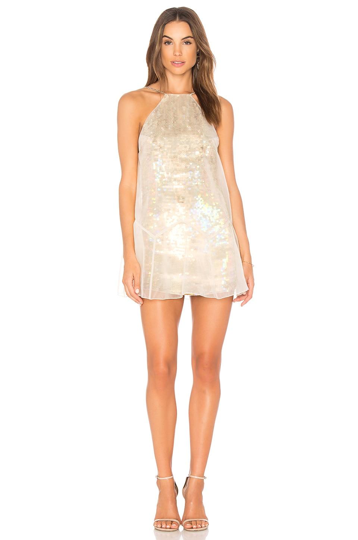Free People Ghost Mini Dress in Neutral