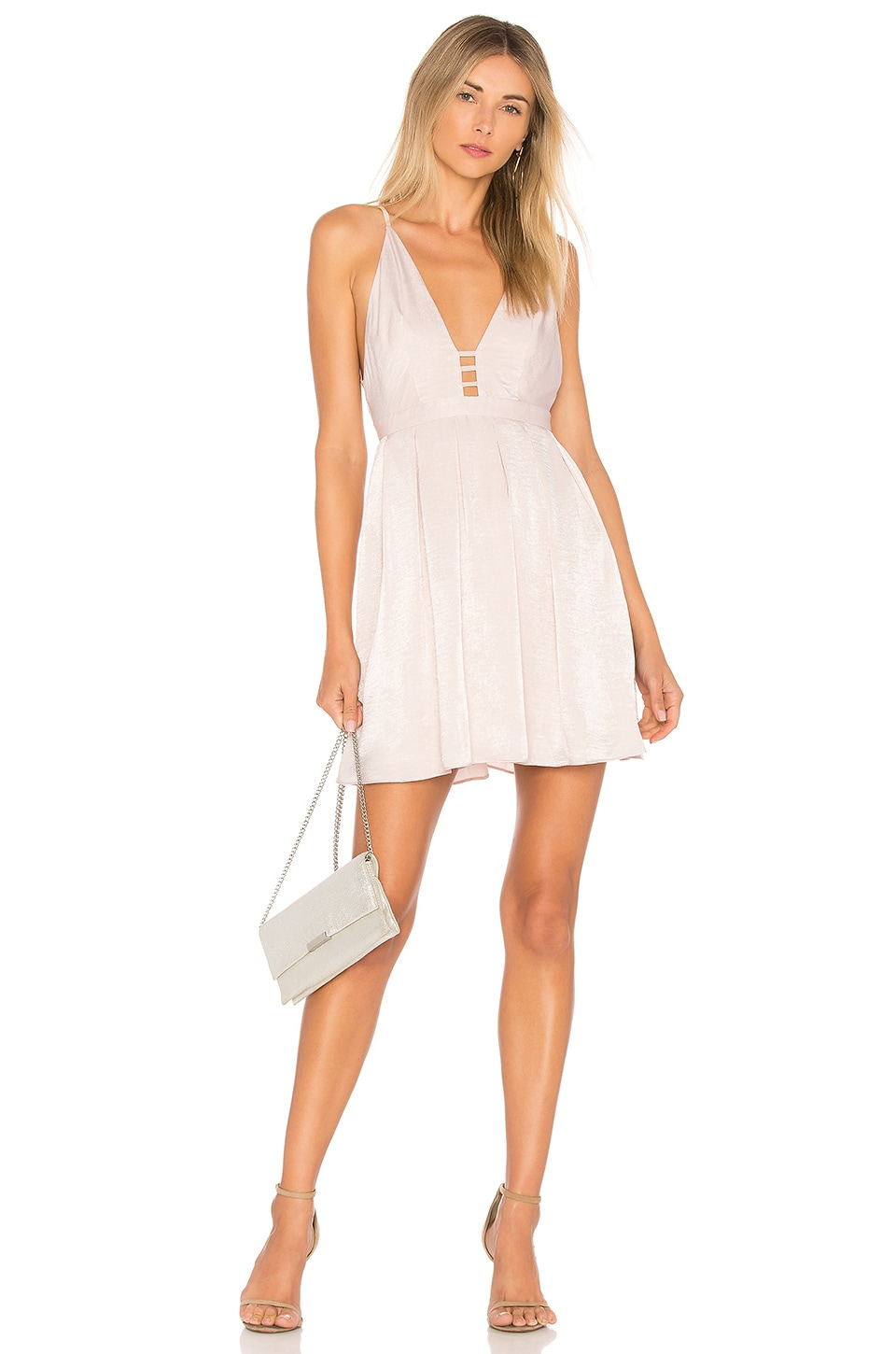 Free People Gabby's Party All Night Dress in Neutral