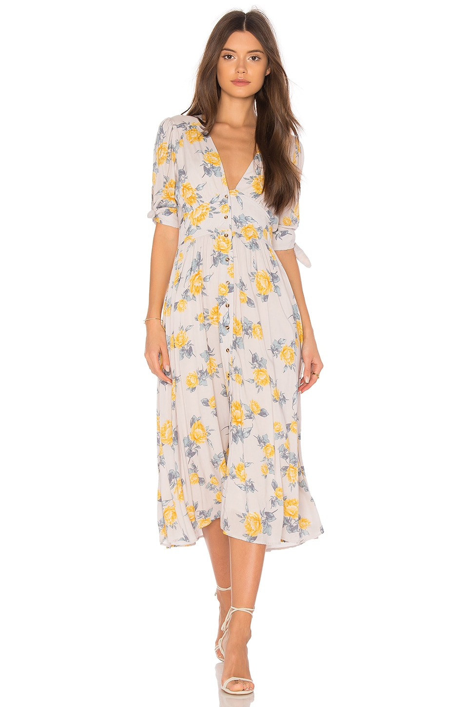 Free People Love of My Life Dress in Neutral Combo