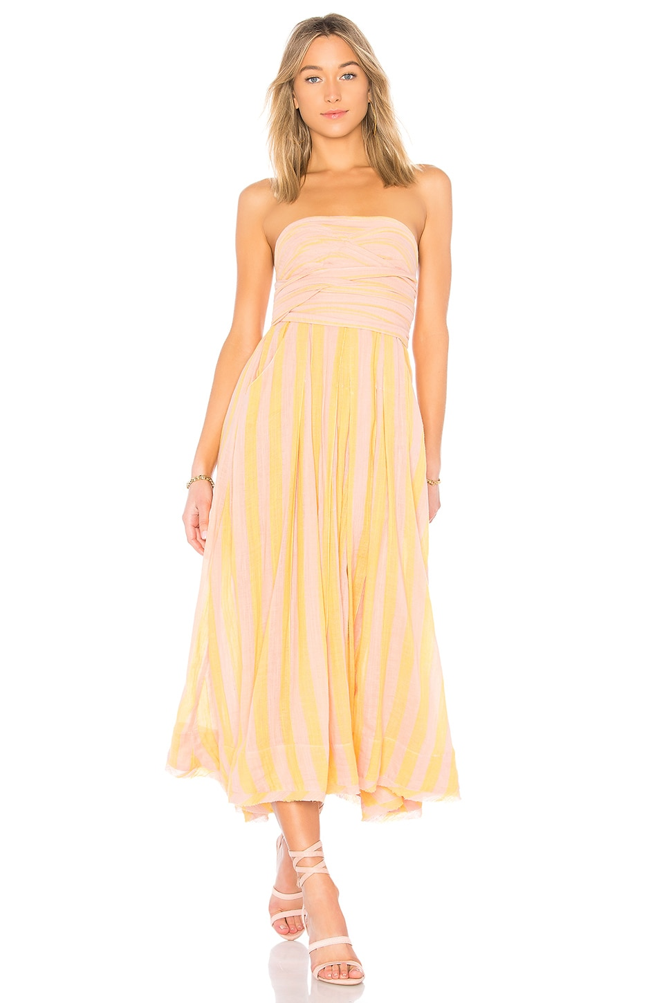 Free People Stripe Me Up Dress in Yellow Combo | REVOLVE