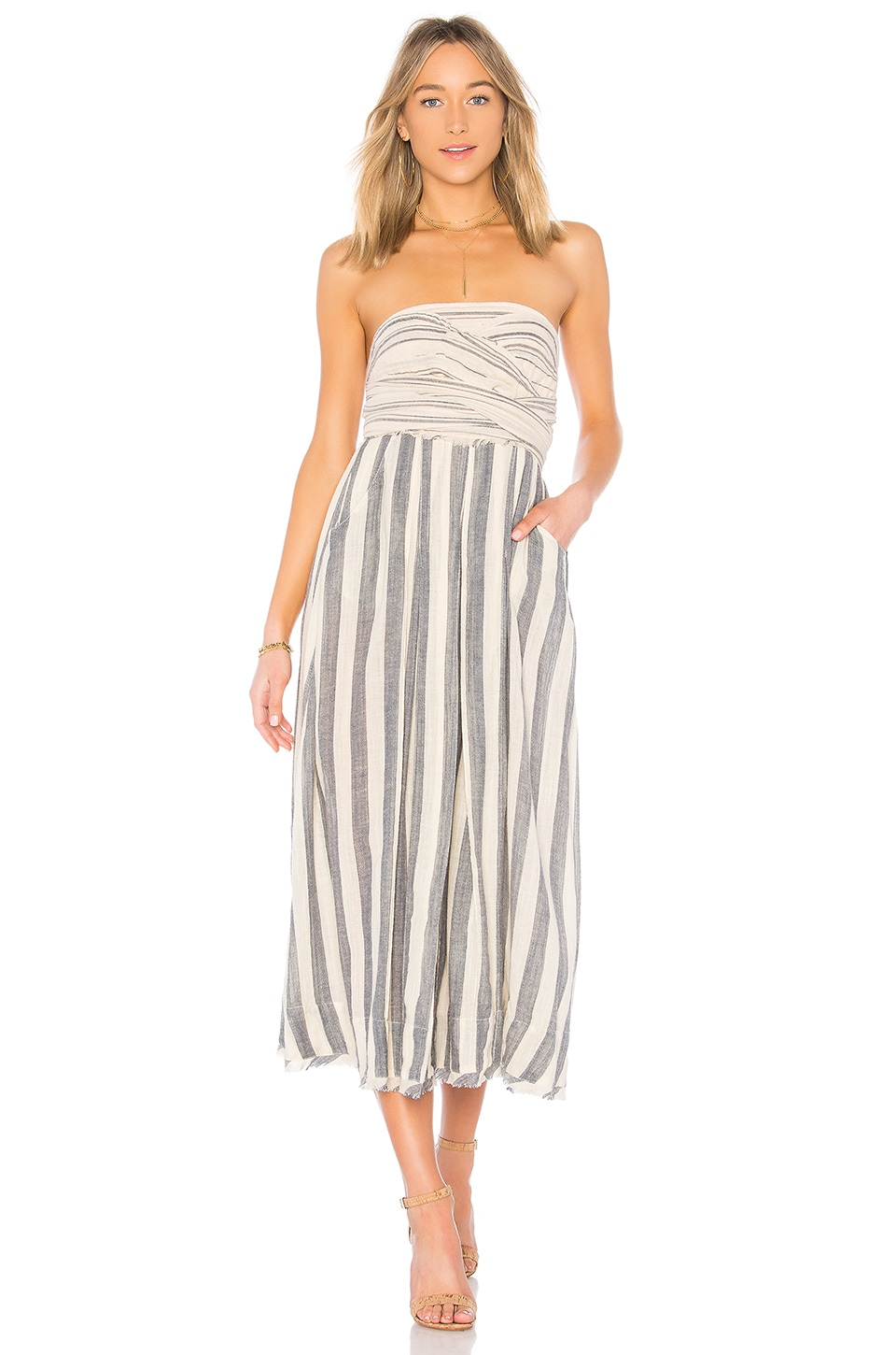 Free People Stripe Me Up Dress in Blue Combo