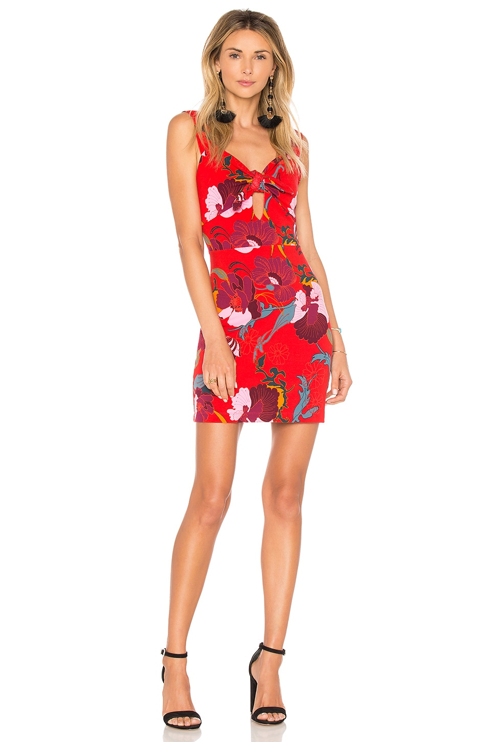 Free People Sweet Cherry Mini Dress in Red