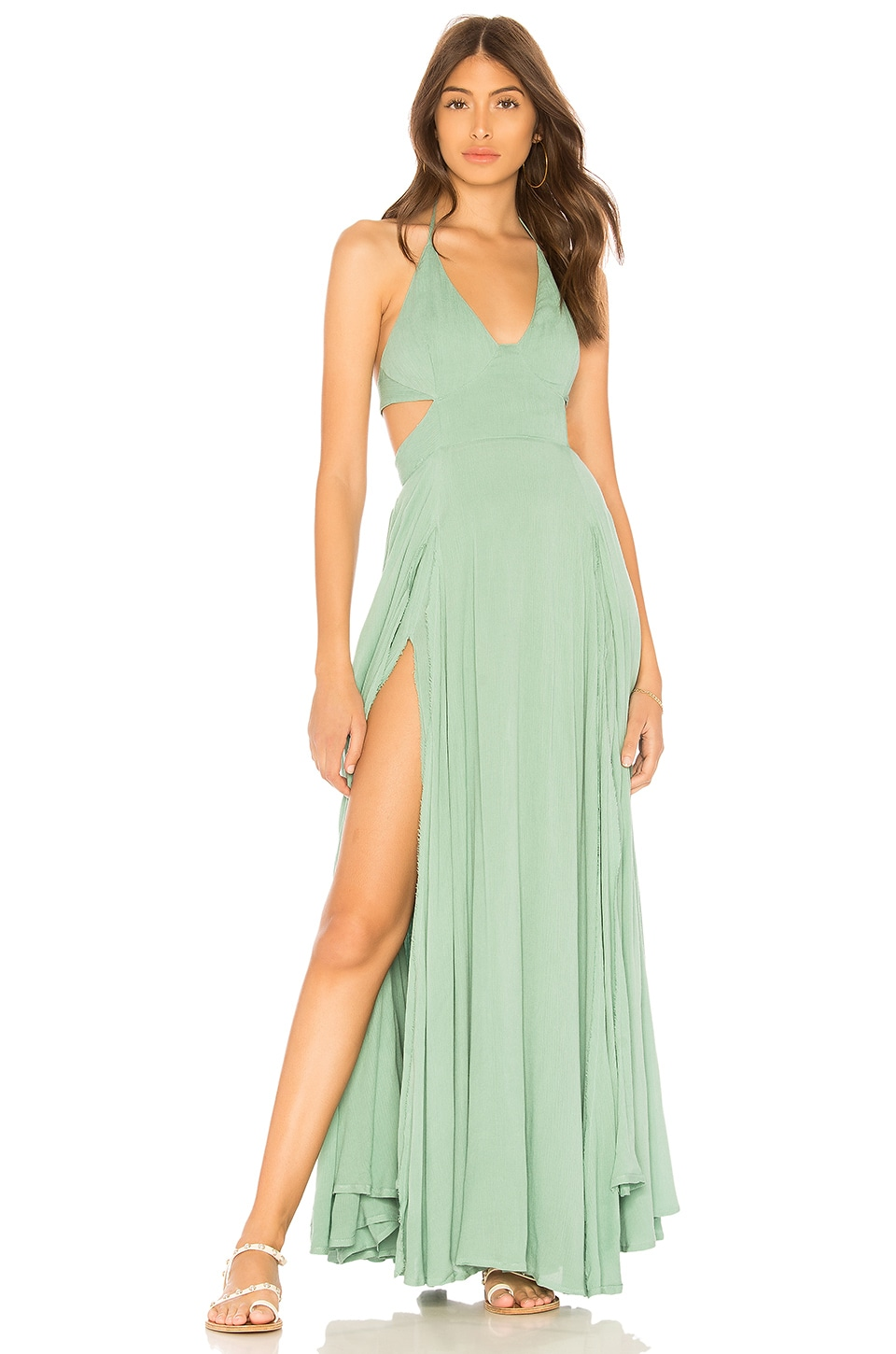 7d3a1e2bd2da Free People X REVOLVE Lillie Maxi Dress in Turquoise | REVOLVE
